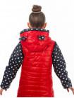 Куртка-жилет МАКСИ демисезонная д/дев.(красный+горох)