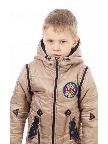 Куртка-жилет НАШИВКА демисезонная (бежевый)
