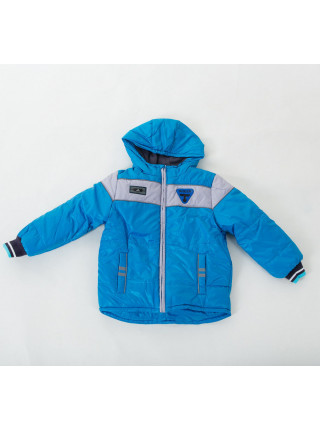 Куртка ПИТЕР демисезонная д/мал(голубой+серый)