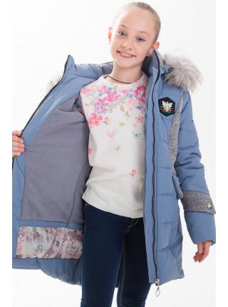 Куртка ЖАКЛИН зимняя (голубой/серый)