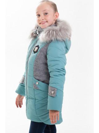 Куртка ЖАКЛИН зимняя (мята/серый)