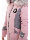 Куртка ЖАКЛИН зимняя (розовый/серый)