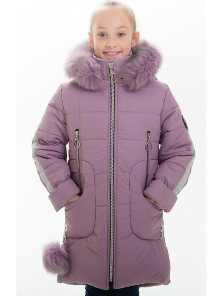 Куртка ИВАННА зимняя (сирень)