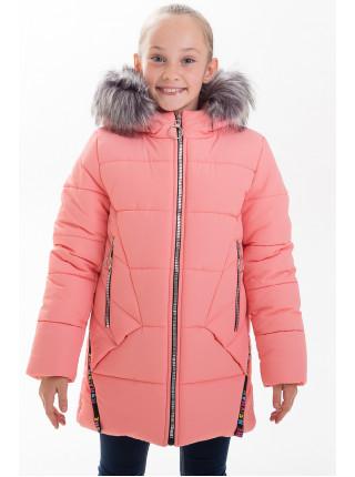 Куртка ЛИАНА зимняя (персик)