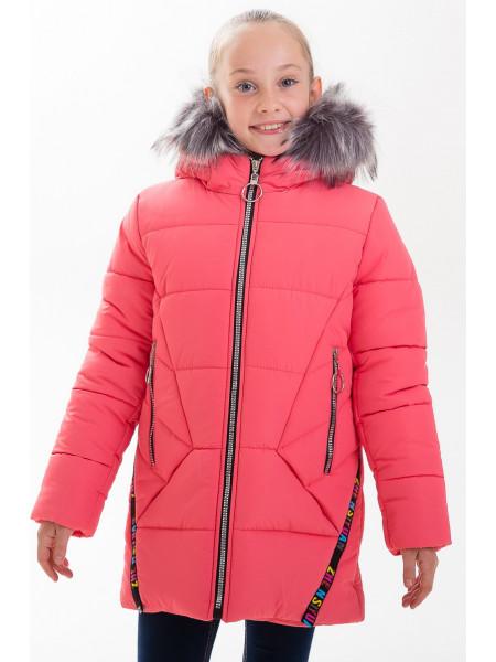 Куртка ЛИАНА зимняя (коралл)