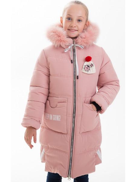 Куртка АЛАННА зимняя (пудра)