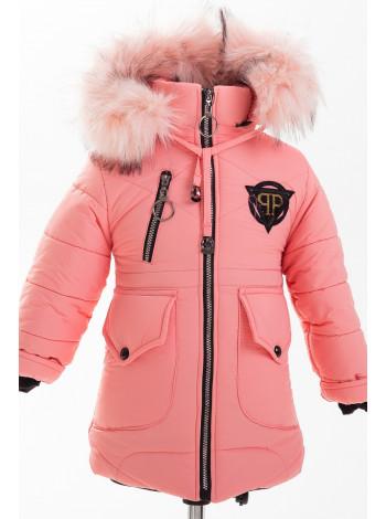 Куртка МЭНДИ зимняя (персик)