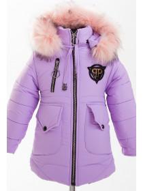 Куртка МЭНДИ зимняя (сиреневый)