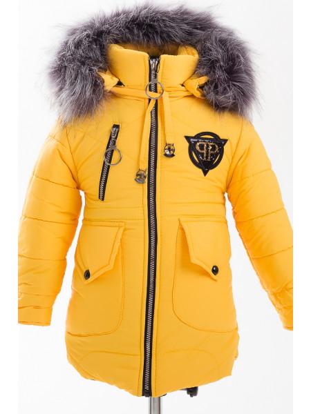 Куртка МЭНДИ зимняя (желтый)
