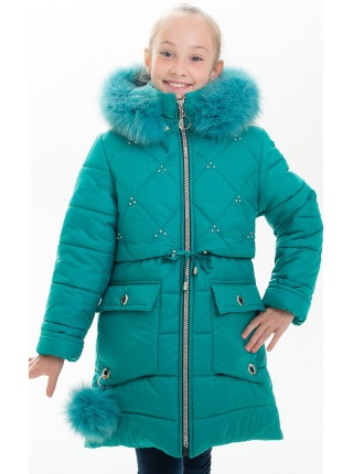 14604 Куртка НИККИ зимняя (изумруд)