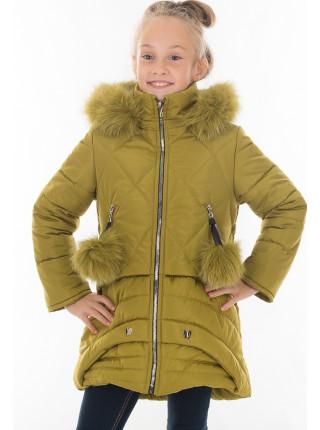 Пальто Виктория зимнее д/дев.(яблоко)