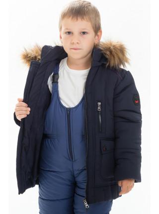 Куртка ЕВСЕЙ зимняя д/мал. (т .синий)